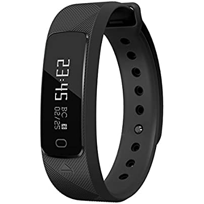OOLIFENG Activity Tracker Fitness Wristband With Heart Rate Monitor Calorie Counter Pedometer Watch For Women Men And Kids Estimated Price £37.88 -