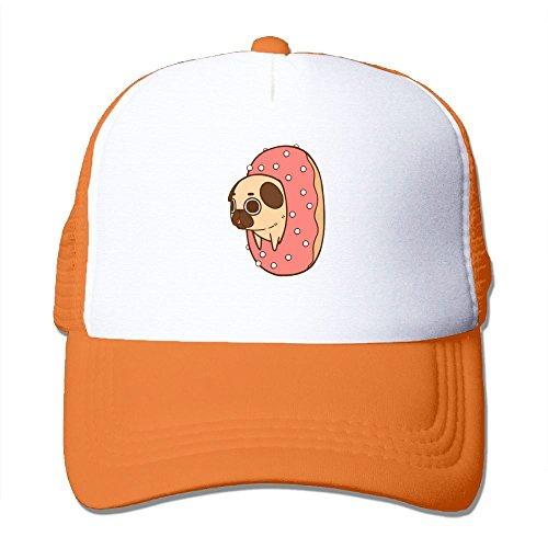 XTMZ Unisex Baseball Caps Bulldog Drilled Into Doughnut Visor Sport Caps Quick Dry Adjustable Snapback Hat - Drilled Donut