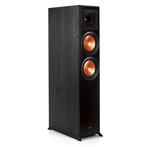 """Klipsch Reference Premiere Dual 6-1/2"""" 500-Watt Passive 2-Way Floor Speaker (Each) Ebony 1065798 RP6000F BLACK"""