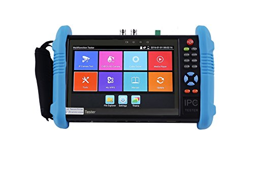 CCTVMTST 7'' IPS Touch Screen CCTV IP Camera CVBS Analog Tester Monitor With HD-TVI/CVI/AHD/PTZ/POE/WIFI/8G TF Card/4K H.265 & 264/HDMI In & Out /RJ45 TDR/Dual Window Test (9800ADH-PLUS) by CCTVMTST