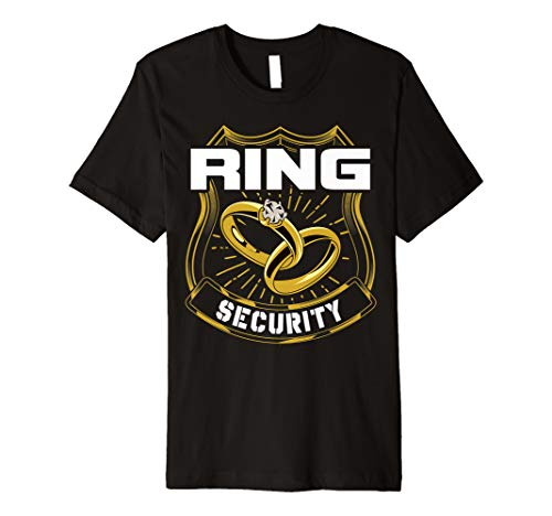Ring Security Wedding Party Ring Bearer Premium T-Shirt