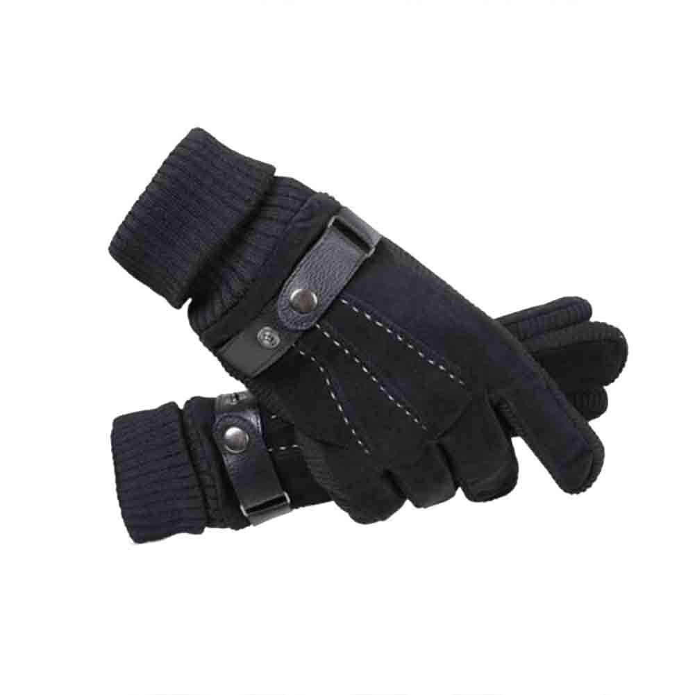 Color : 9 HONEY Mens Windproof Anti-Skid Cycling Warm Cotton Gloves Thick Lining Motorcycle Riding Gloves