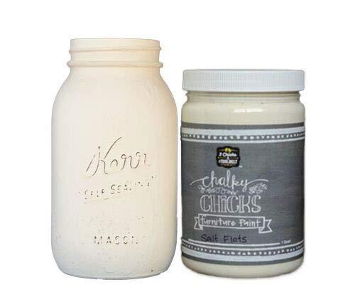 Chalk Finish Paint - Furniture & Cabinet Paint (32 oz, Salt Flats)