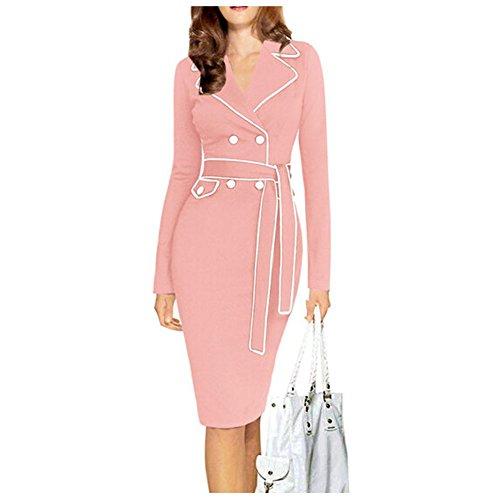 Pinkyee - Vestido - Estuche - para mujer Rosa