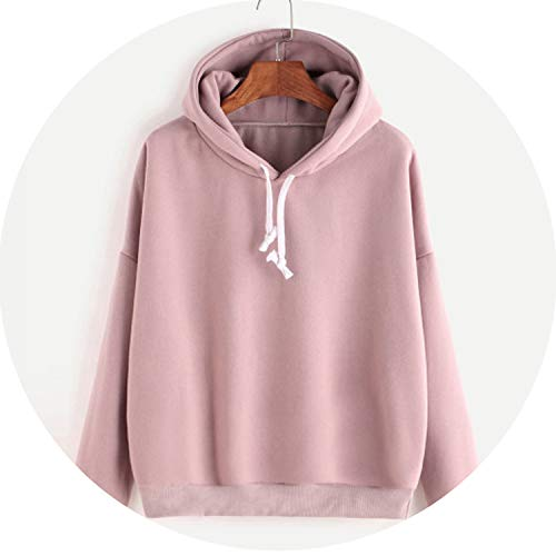 (Utensil-Shop Women Pink Women's Gown with A Hood Hoodies Ladies Long Sleeve Casual Hooded Pullover)
