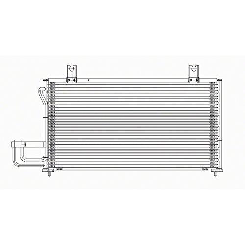 CPP Air Conditioning Condenser for Kia Sephia, Spectra KI3030102