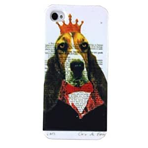 GJY Punk Sir Dog Pattern Plastic Hard Cases for iPhone 4/4S , Multicolor