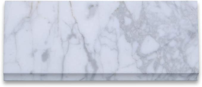 Size 48 x 6 inch Polished Calacatta Gold Marble Threshold