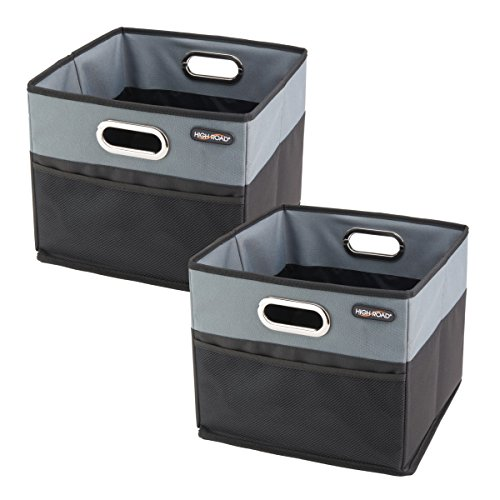 - High Road CargoCube Trunk and Car Organizer Bins with Leakproof Lining - Set of 2 (Black)