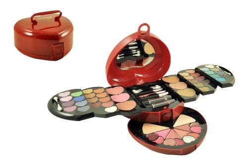 Cameo 9879 Coeur Carry Case Ombre à Paupières cosmétiques Make-up Kit de beauté