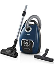Bosch odkurzacz z workiem serii 8 BGB75X494, odkurzacz podłogowy, idealny dla alergików, filtr higieniczny, ssawka podłogowa do parkietu, dywanu, płytek, długi kabel, cichy, 650 W, niebieski
