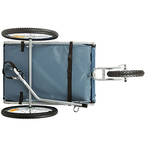 Rage Powersports PT-20304-B Blue 2-in-1 Pull-Behind Dog Bike Carrier Bicycle Pet Trailer ,1 Pack by Rage Powersports (Image #4)