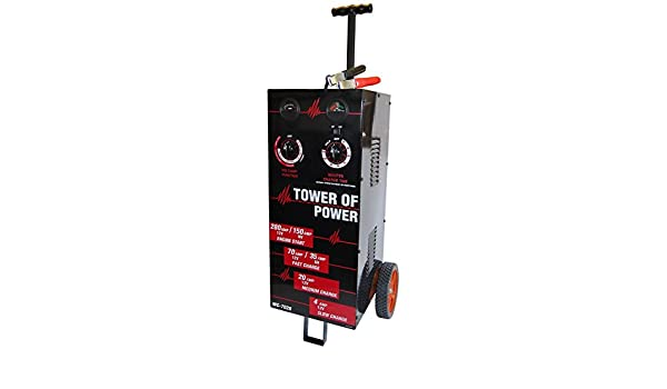 AutoMeter WC-7028 Tower OF Power Wheel Charger 12V 4//30//70 Charging 280 Amp Start 6V 40 Amp Charging 150 Amp Tower OF Power Wheel Charger
