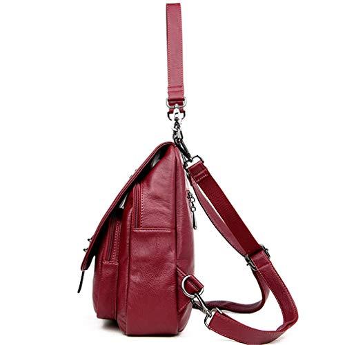 Donna a borsa in viaggio da in spalla Multifunzione Borse Ragazze Zaini PU Moda Scuola bronzo pelle 7FAqd7