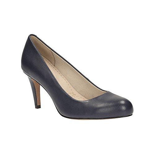 Clarks Carlita Cove, Zapatos de Tacón para Mujer Azul Marino