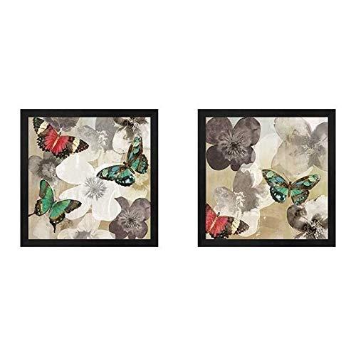 Metaverse Aimee Wilson 'Aflutter' Framed Art (Set of 2) ()