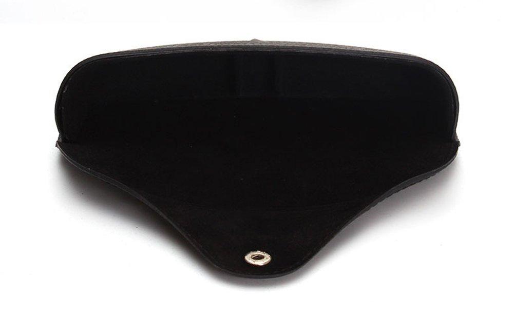 Funnuf Beltloop Vintage Sunglasses Case Litchi Leather Belt Case Retro Glasses Pouch Eyewear Case black by Funnuf (Image #4)