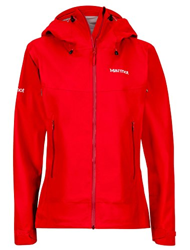 - Marmot Starfire Women's Lightweight Waterproof Hooded Rain Jacket, Cherry Tomato, Large