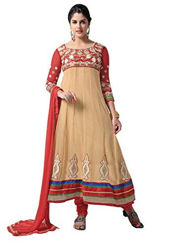 Vibes Women's Pure Georgette A Line Un Stitched Salwar Kameez V48(V48-3007_Yellow)