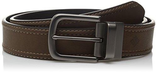 Columbia Men's 1 2 Inch Reversible Belt with Stitch Detailing, Brown/Black, 36