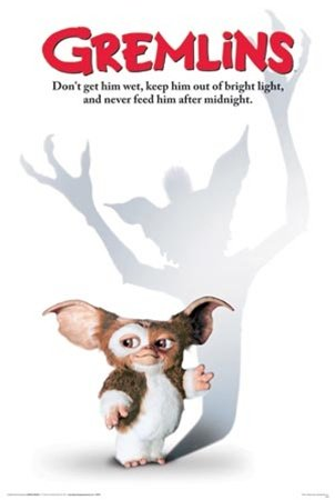 Gremlins Mogwai 80's Movie Poster 24 x 36 inches