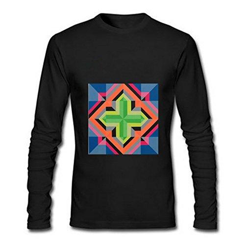Price comparison product image FeelingSmart ArtGeometrictriangle Simple Art Crewneck Long Sleeve mens T-shirt Size XL