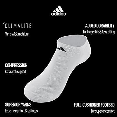 adidas Women's Athletic No Show Sock (6-Pair), Black/Aluminum 2, Medium, (Shoe Size 5-10): Clothing