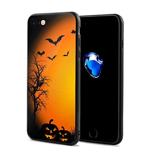 Halloween Night Pumpkin for iPhone 7/8 Case Protective Cover Anti-Fall Soft Shell Antifouling Otterbox for Men and Women -