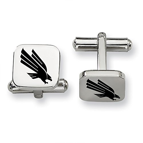 North Texas Mean Green, Eagles Stainless Steel Square Cufflinks