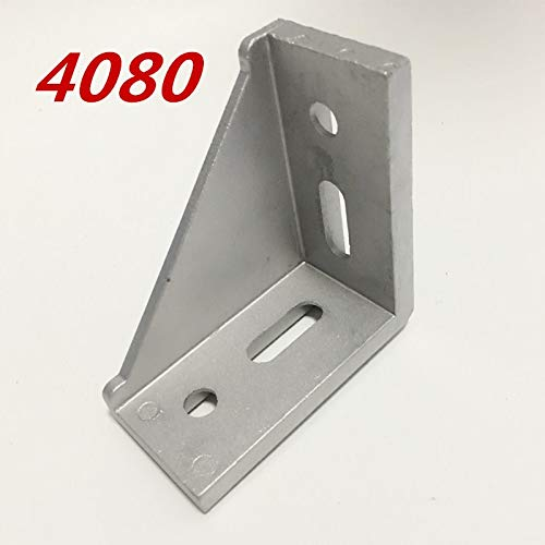 Gimax 20pcs/Lots 4080 Corner Fitting Angle Aluminum 78 x 78 L Connector Bracket Fastener Match use 4080 Industrial Aluminum Profile