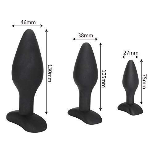 SA Tshirt Plugs Butt 3Pcs/Set Butt Plug Sexx-Toys for Men Women Gay Black Anal Plug Prostate Massager Adult Products Anal Trainer Sex Shop S/M/L TDT by Splendid Artists (Image #8)