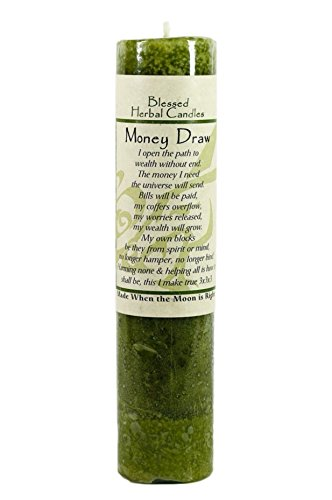 Blessed Herbal Money Draw Candle by Coventry Creations