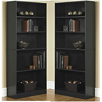Amazon Com Sonax Hawthorn 60 Inch Tall Bookcase Midnight Black Kitchen Amp Dining