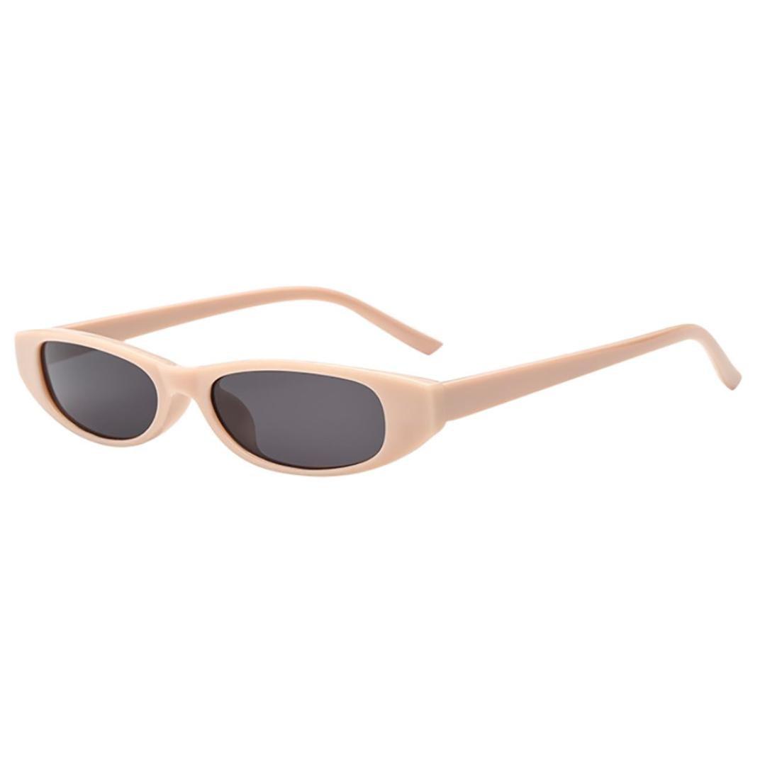 2018 Sunglasses,Sunfei  Retro Vintage   Clout Cat Rapper Oval Shades Grunge Glasses Unisex Sunglasses (D)
