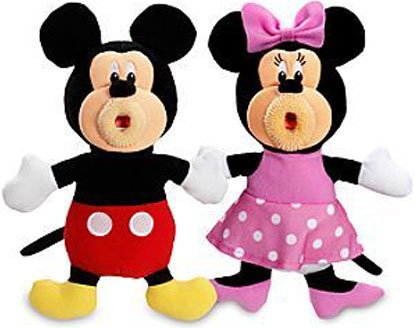 SingAMaJigs Plush Doll Mickey Mouse Clubhouse Figure 2Pack Mickey Minnie