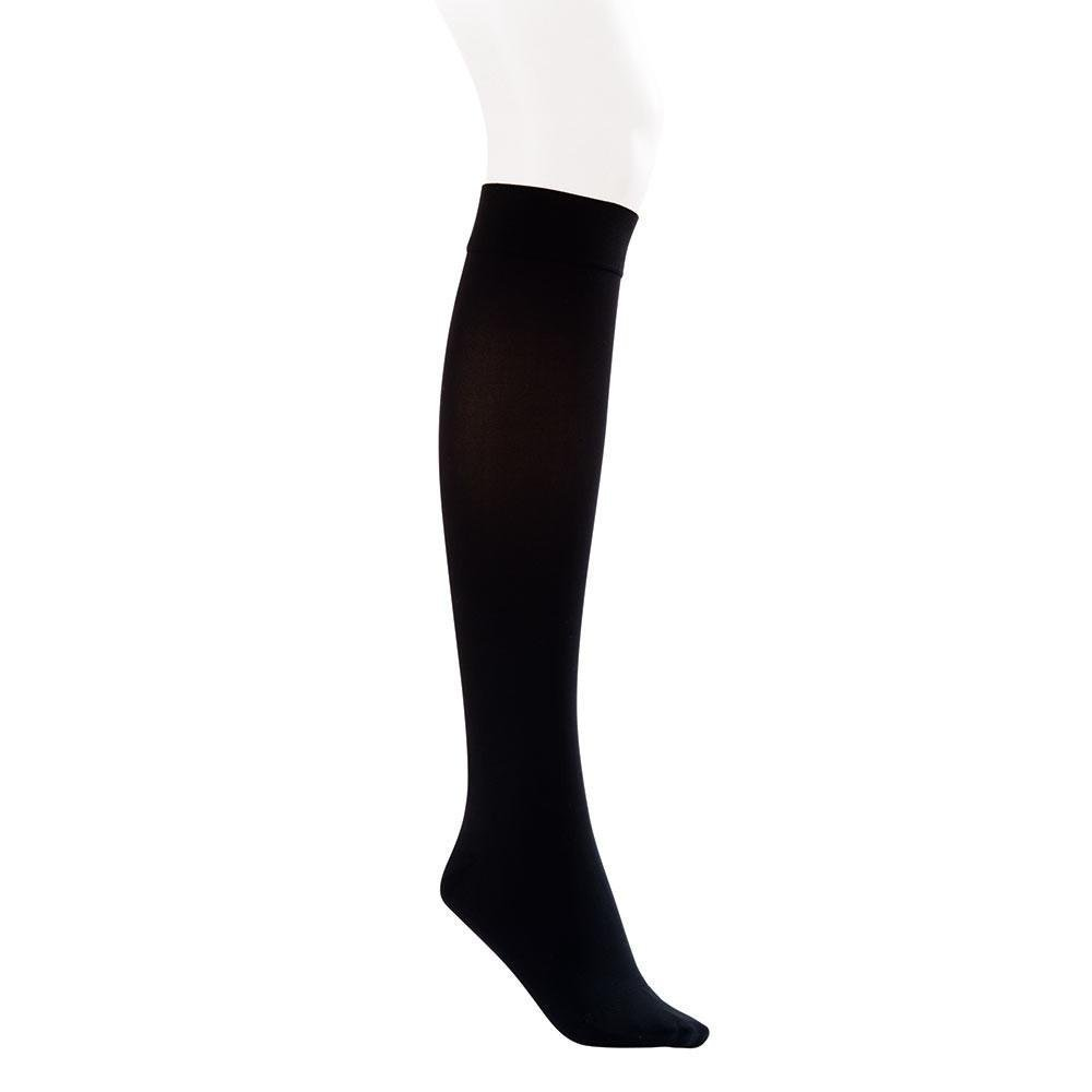 BSN Medical 115132 Jobst Opaque Compression Hose, Knee High, 20-30 mmHG, Closed Toe, Small, Classic Black