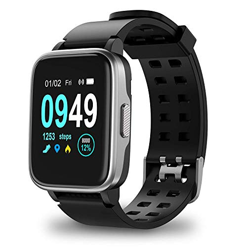 Xiaojun Smart Watch, Active Fitness Tracker Watch Health Sports Smart Watch with Heart Rate, Sleep Monitor Compatible with Samsung Apple iPhone Men's and Women's,A