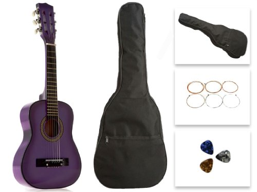 Star Kids Acoustic Toy Guitar 31 Inches Purple with Bag, ...