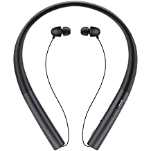 Bluetooth Headphones, Tecomax HB-905 Wireless Sweatproof Neckband Sports Earphones with Noise Cancelling - Grey