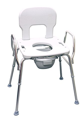 Heavy-Duty Commode / Shower Chair (62625) - 500 lb Capacity (Base Length: 29'' - 30.25'') - Eagle Health Supplies by Eagle Health Supplies