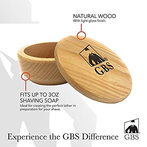 GBS Shaving Soap Bowl + Lid Cover & Shave Soap - Natural for sale  Delivered anywhere in USA