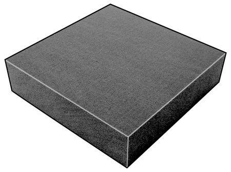 Foam Sheet, 300135 Poly, Charcoal, 4x24x24