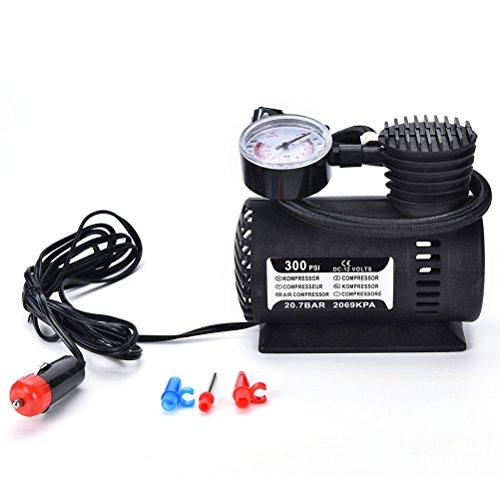 12V Portable Mini Air Compressor 300 PSI Bike Car Tyre Inflator Pump Cigarette
