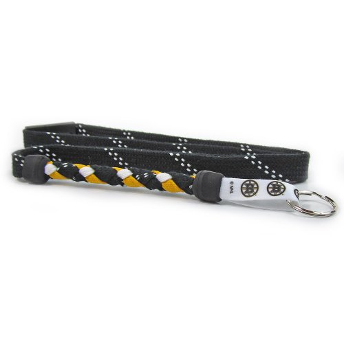 Boston Bruins Keychain - Swannys Boston Bruins Hockey Skate Lace Lanyard
