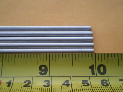 Glob 3 PCS. STAINLESS STEEL ROUND ROD 304, 5/32'' (.156'') (4MM.) X 10'' LONG