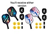 Urtboo Pickleball Paddle Rackets, Graphite Pickleball Sets Graphite Face Honeycomb Composite Core Low Edge Guard Premium Grip Light Weight 8 OZ,Pickleball Racket Good Choice for Beginner&Pro