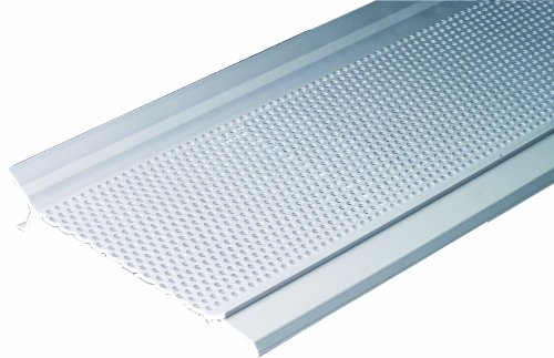 Gutter Guard Pro GG5W-1 12-Foot Gutter Screen System, Snap-In Cover, White