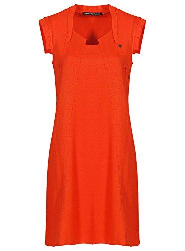 Femme Et Courtes Robe Autres Les Orange Manches Mado vxT7wq