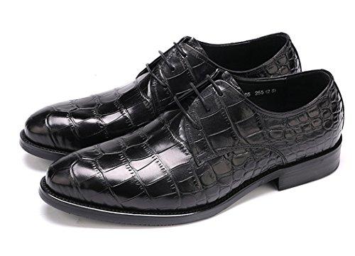 Leather Genuine Mens Lace Dress Oxford up Shoes Black Wingtip Z5qdnqz
