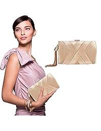 Yotown Fashionable Silk Handbag BridalBag Evening Party Lady Tassel Clutch